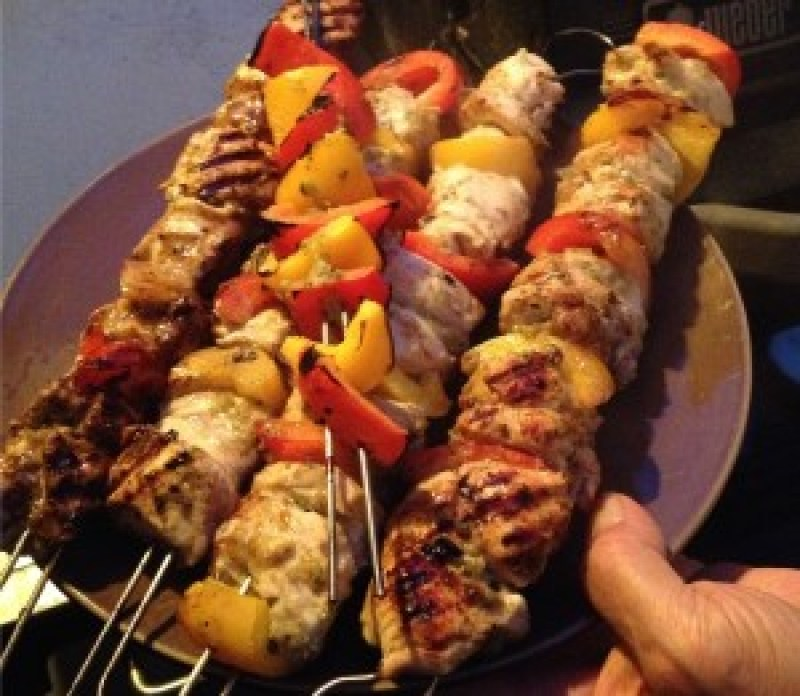 Zukali Cilantro Pineapple kababs hot off the grill.