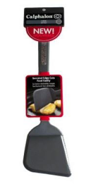 Calphalon serrated spatula.