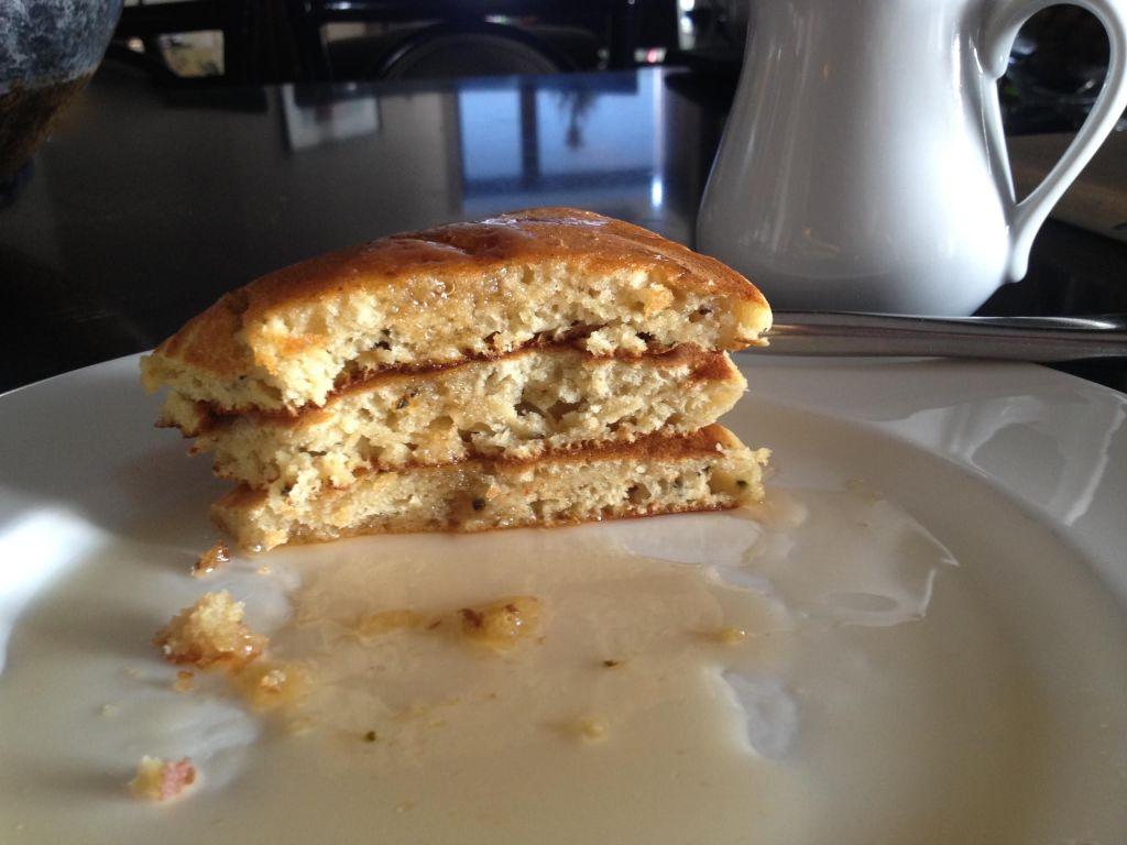 SerendipiTea pancakes cut.