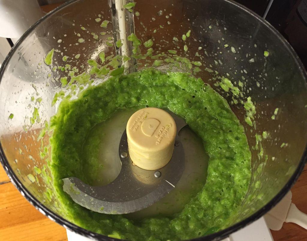 Asparagus risotto - asparagus puree.