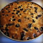 Blueberry Buckle just out of the oven.