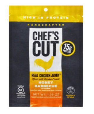 Chef's Cut Real Honey Barbecue Chicken Jerky package.