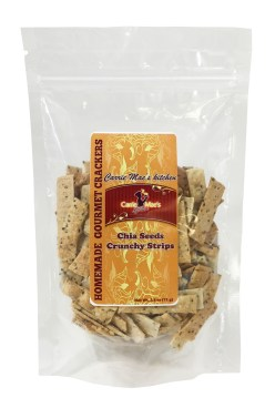 Carrie Mae's Kitchen Chia Seeds Crunchy Strips package.