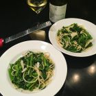 Super Quick Broccoli Rabe and Pasta Recipe in 2 bowls.