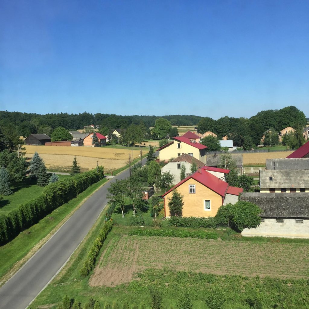Beautiful Polish countryside on the way to Krakow.