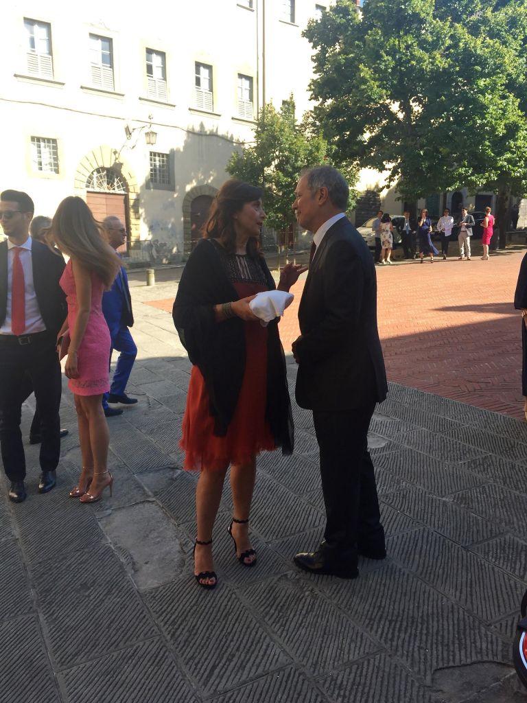 Tiziana Bonechi and Steve in conversation.