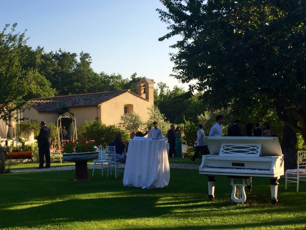 Santa Maria a Pigli at the start of the wedding reception.