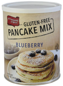 PS Seasoning & Spices Gluten Free Blueberry Pancake Mix.