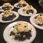 PS Seasoning & Spices Buttermilk Blueberry shortcake on 6 white plates.