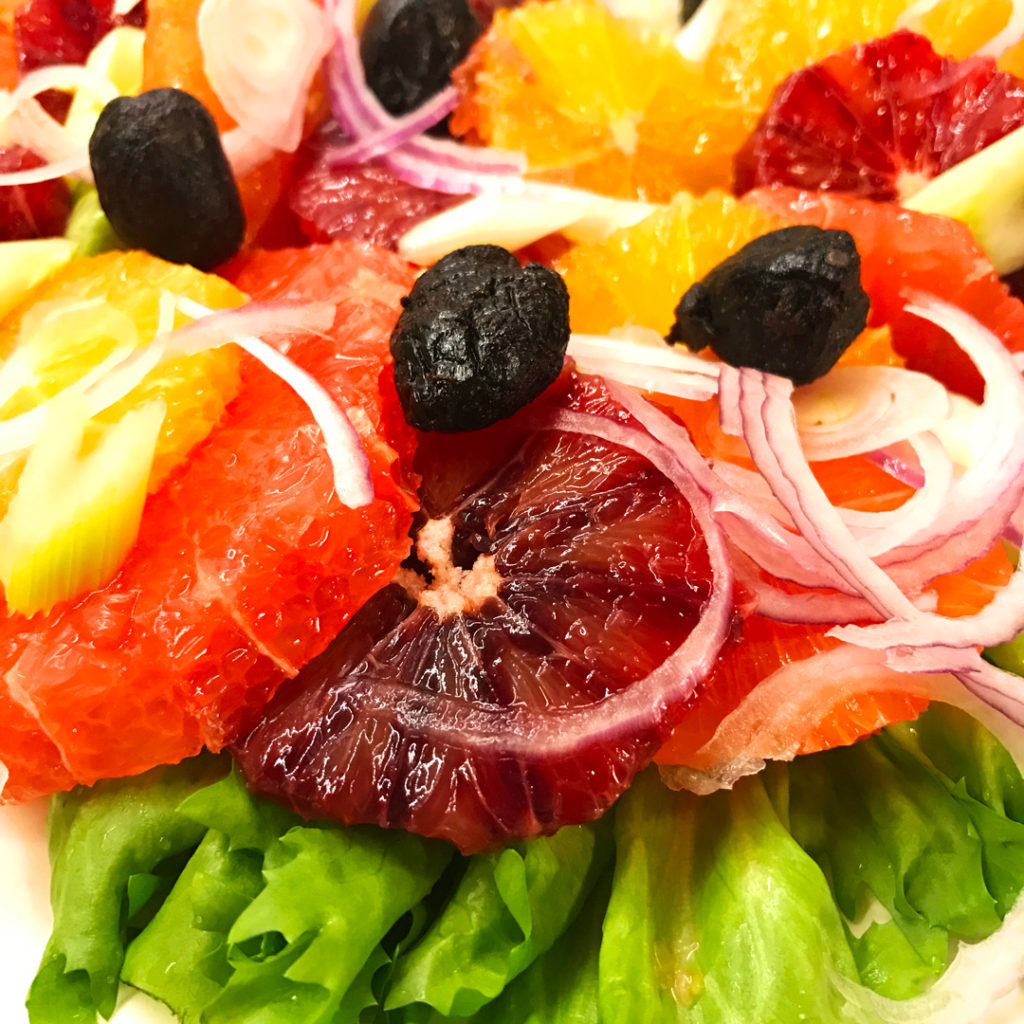 Refreshing Winter Citrus Salad Recipe-luscious close-up.