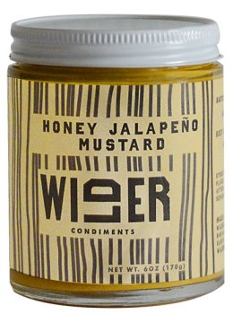 Wilder Condiments HoneyJalapeño Mustard jar.