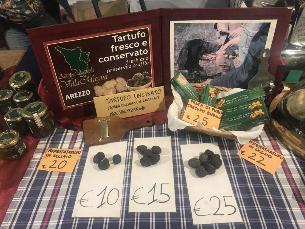 Arezzo International Market - truffles for sale.