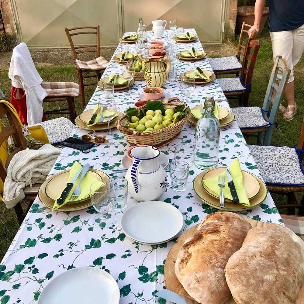 Marzia's dinner table
