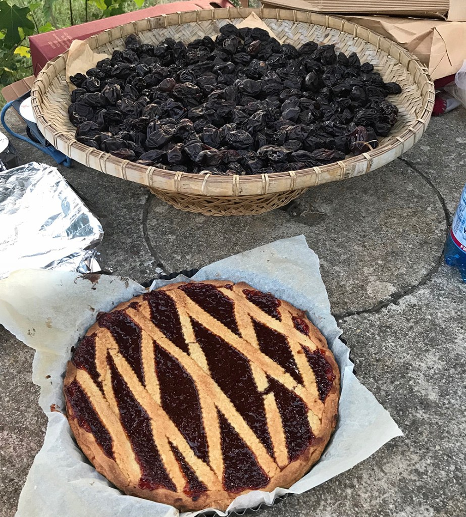 Sun-dried plums and Marzia's delicious crostata.