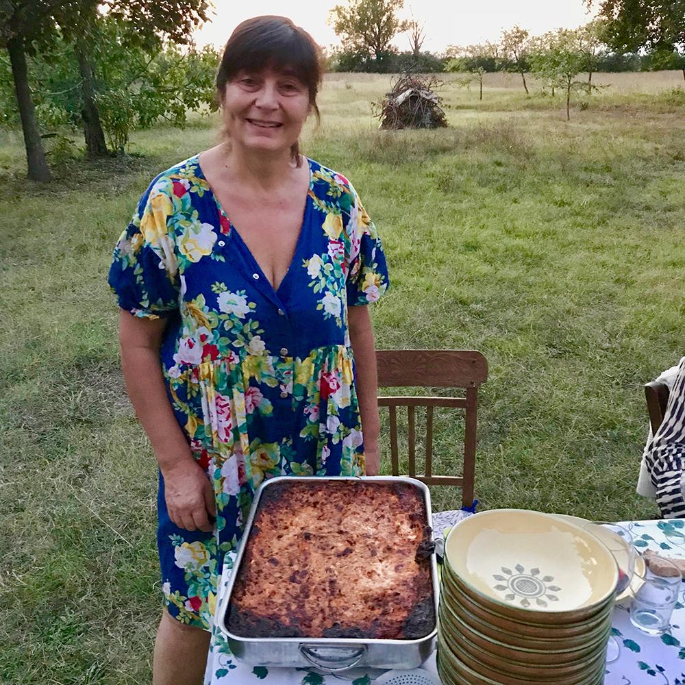 Marzia with her lasagna!