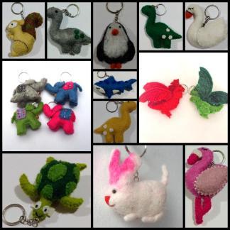Fair Trade Keyrings & Bag Charms