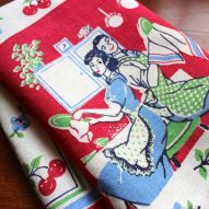 Young love on a dishtowel!