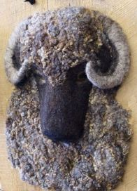 A woolly guy, crafted of wool