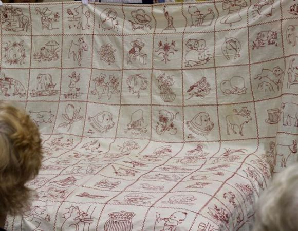 My favorite, a redwork coverlet