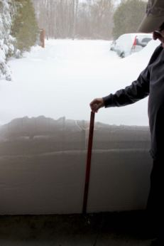 The drift at the garage door--will the snow blower handle that?