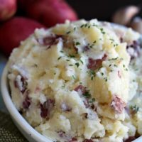 Garlic Parmesan Red Mashed Potatoes