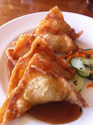 Crab & Macnut Wontons - Appetizer at Duke's Malibu