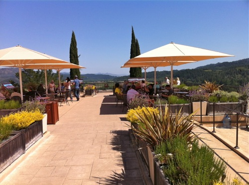 Terrace at Sterling Vineyards in Calistoga, Napa Valley - © LoveToEatAndTravel.com