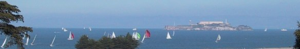 Sailing in San Francisco Bay - Panoramic view of Alcatraz and SF Bay - All Rights Reserved Love to Eat and Travel