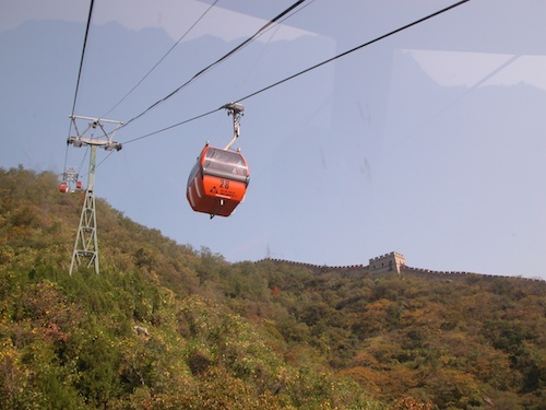 Aerial Cable Cars run up and down the Badalling and Mutianyu sections of the Great Wall of China, Beijing - © LoveToEatAndTravel.com