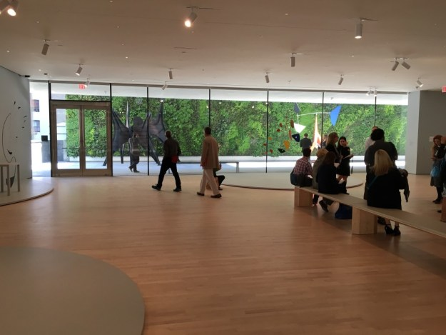 Alexander Calder: Motion Lab with Sculpture Terrace and Living Wall in the background at SFMOMA - photo © Love to Eat and Travel