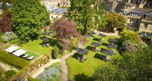 The Royal Crescent Hotel & Spa - aerial view of Garden © The Royal Crescent Hotel & Spa