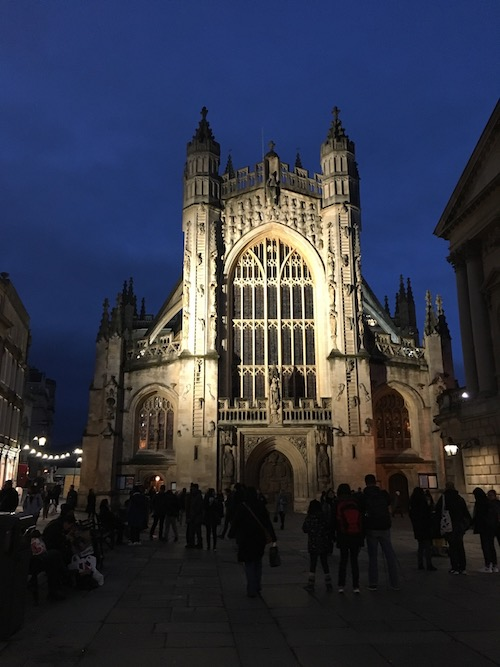 Bath Abbey at night, Bath, UK - photo © Love to Eat and Travel