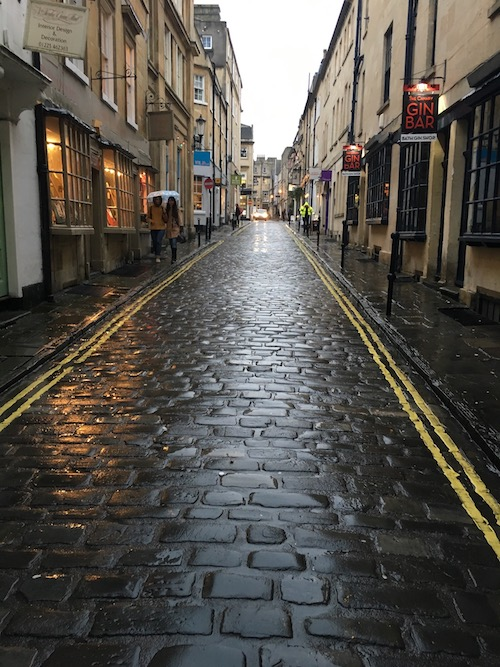 Quaint cobblestone streets in Bath, UK - photo © Love to Eat and Travel
