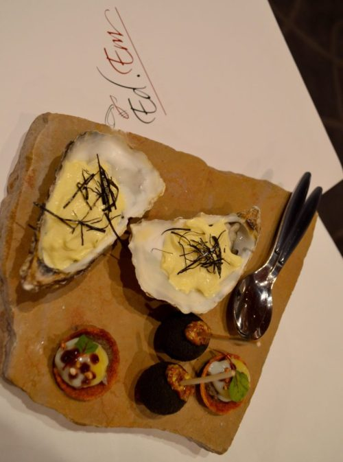 EdEm Oyster appetizer - Photo Credit: Françoise Brooks