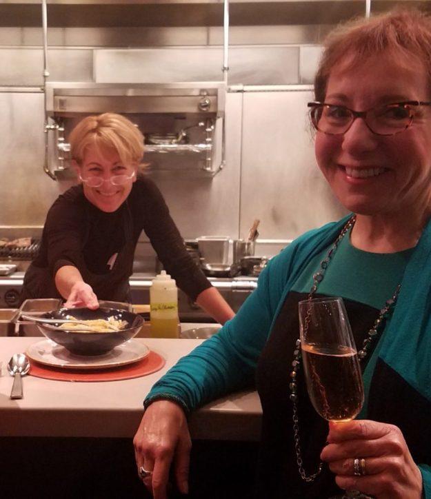 The Restaurant at CIA Copia - Polly Lappetito serves guests - Credit: Deborah Grossman