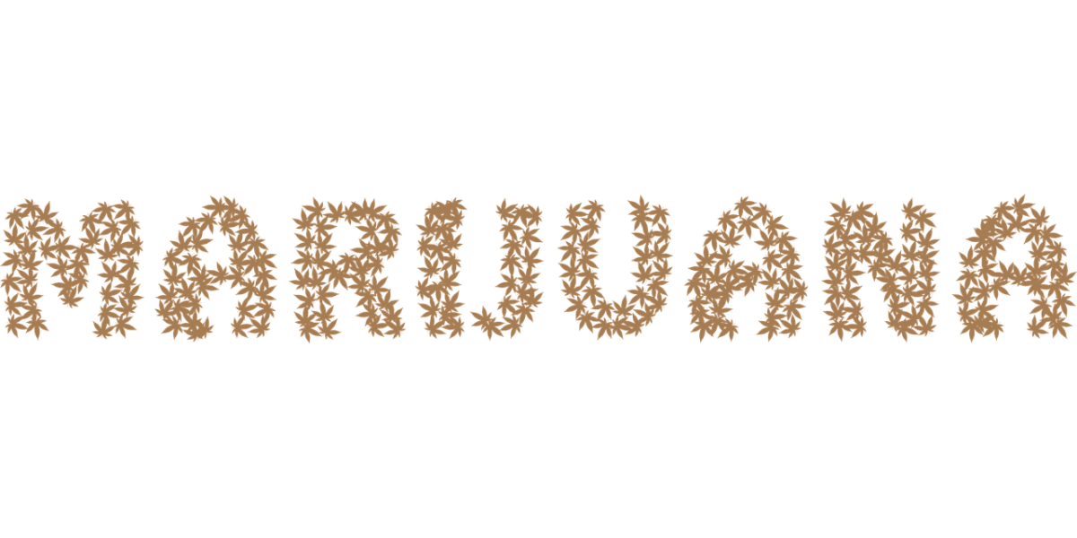 marijuana, cannabis, typography
