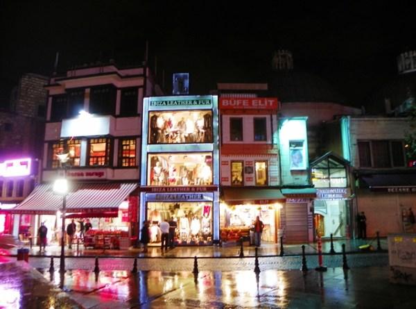 Район Султанахмет ночью