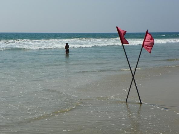 Флажки на центральном пляже