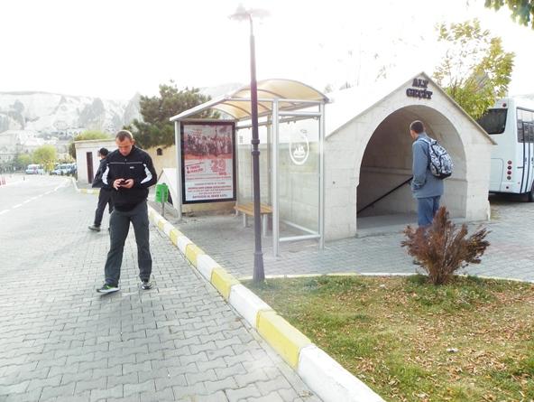 Остановка автобусов в Аванос