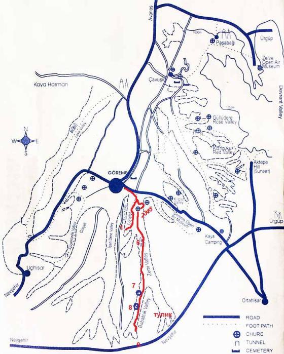 Карта долины Земи и Геркюндере
