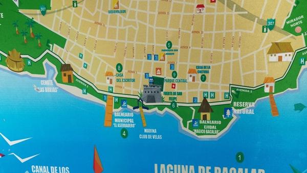 Bacalar. Map