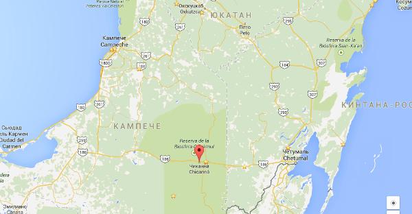 Chicanna map
