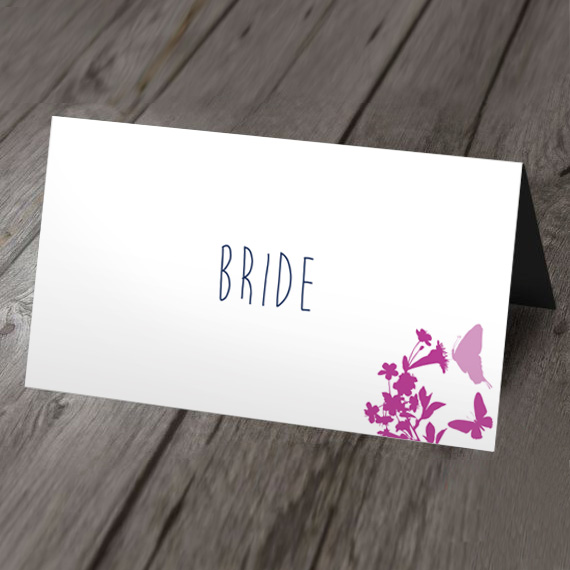 blossom wedding place card