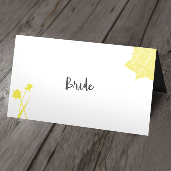 daffodil place card