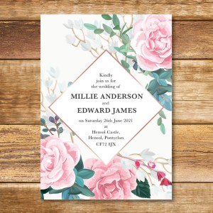 Sophia Rose Wedding Invitation