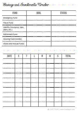 Planner Nerd | Free Printable Finance Tracker | LovetteJam