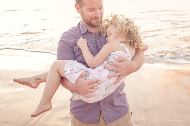 Maui family photography father and daughter