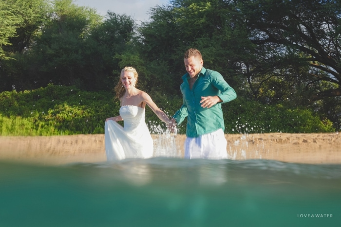 Underwater trash the dress session Maui