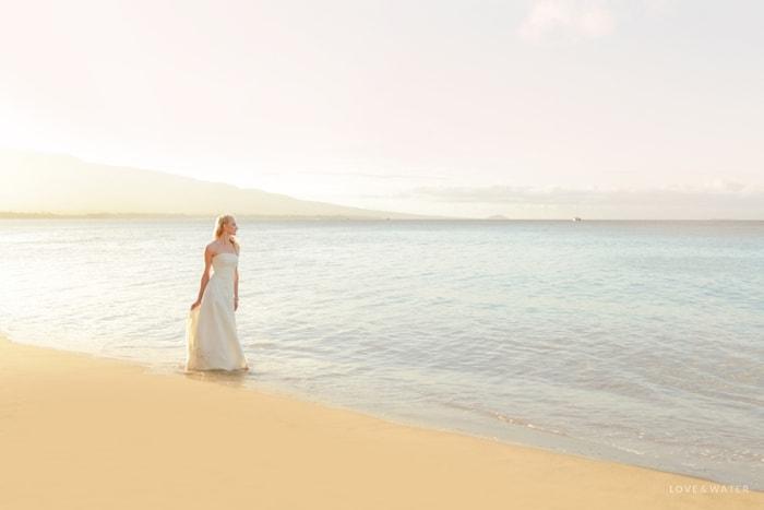 Sunrise Maui trash the dress