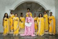 nigerian-indian-bride-and-bridesmaids-solange-pose-faji2016-jide-kola-loveweddingsng